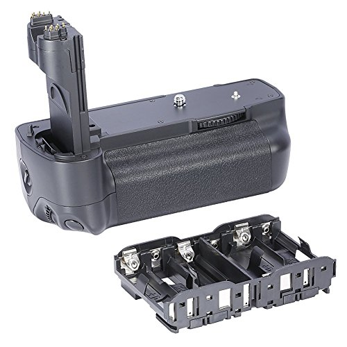Neewer Vertical Battery Grip(Replacement for Canon BG-E6 Battery Grip)Work with 1 or 2 Pieces LP-E6 Battery or 6 Pieces AA Batteries for Canon EOS 5D MARK II Digital SLR Camera