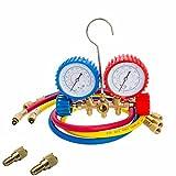 Kyпить Bang4buck Diagnostic Manifold Gauge Kit Ideal For R134a, R12, R22, R502 R410a HVAC A/C Refrigeration Charging Service Kit 5FT Three 36