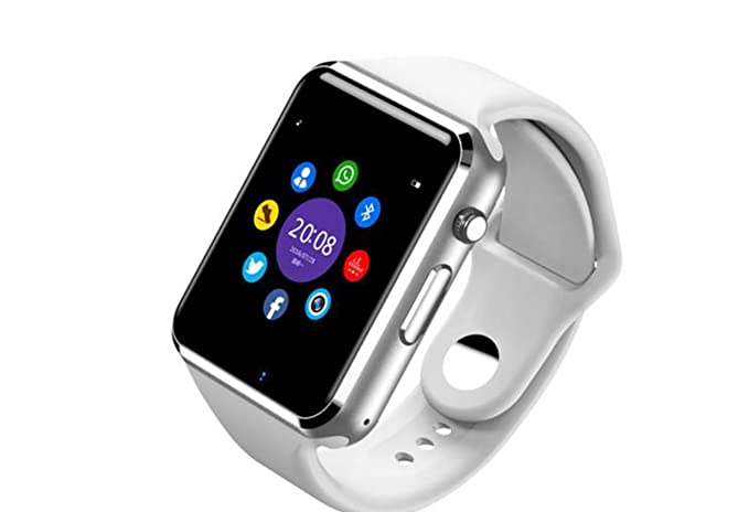 A1 smart watch Bluetooth Camera built in (White)