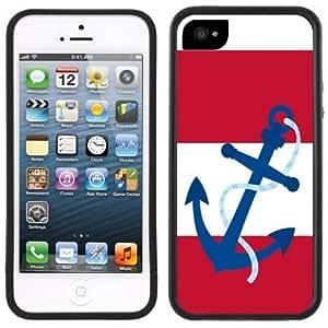 New Style Anchor Stripes Nautical Handmade iPhone 5C Black Case