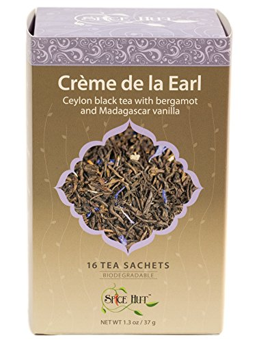 (The Spice Hut Creme de la Earl Black Tea, 16 Count, 1.3 oz)