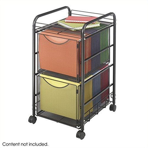 Scranton & Co Mesh File Cart with 2 File Drawers by Scranton & Co