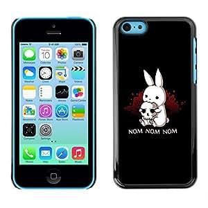 TECHCASE**Cubierta de la caja de protección la piel dura para el ** Apple iPhone 5C ** Black Monster Cute Bunny Skull Funny