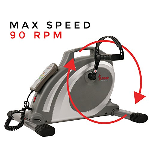 Sunny Health & Fitness Mini Cycle with 90 RPMs for Leg and arm Exercises with Motorized and Manual Option - SF-B0717 by Sunny Health & Fitness (Image #9)