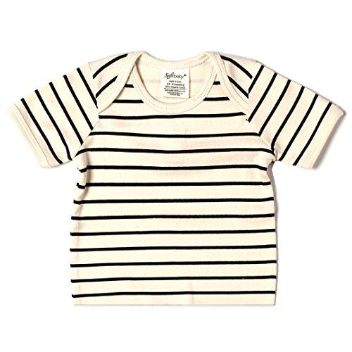 SoftBaby Organic Cotton Tee - Black Stripe