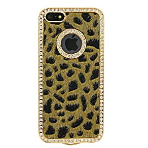 Lint Zircon Leopard Pattern Hard Case for iPhone 5/5S (Yellow)