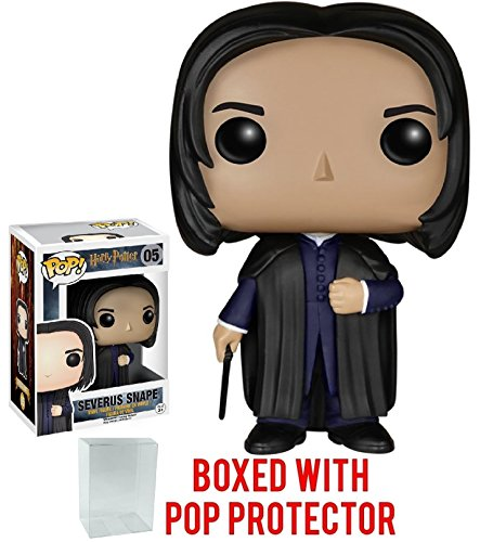 Funko Pop! Movies: Harry Potter - Severus Snape #05 Vinyl Figure (Bundled with Pop BOX PROTECTOR CASE)