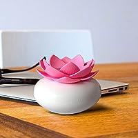 CLKJDZ Mini Humidifier USB Office Lotus Shape Air Humidifier Light Mini USB Home Air Humidifier Negative lon Air Purifier (pink)