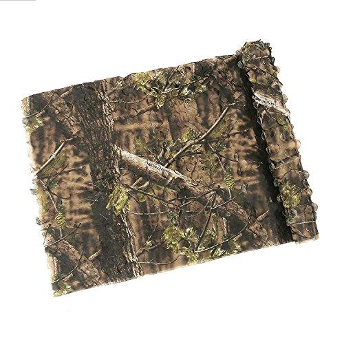 Auscamotek 7oz Super Light Camo Netting Camouflage Netting for Hunting Blinds- Green 5×13Ft