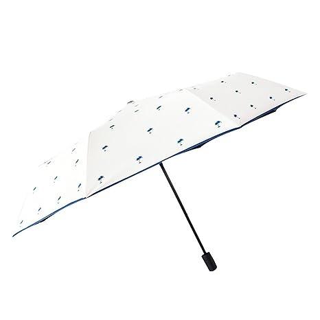 Paraguas Mujer Pequeño Lluvia fresca y lluvia Doble uso Sen Retro Paraguas plegable Paraguas simple Goddess