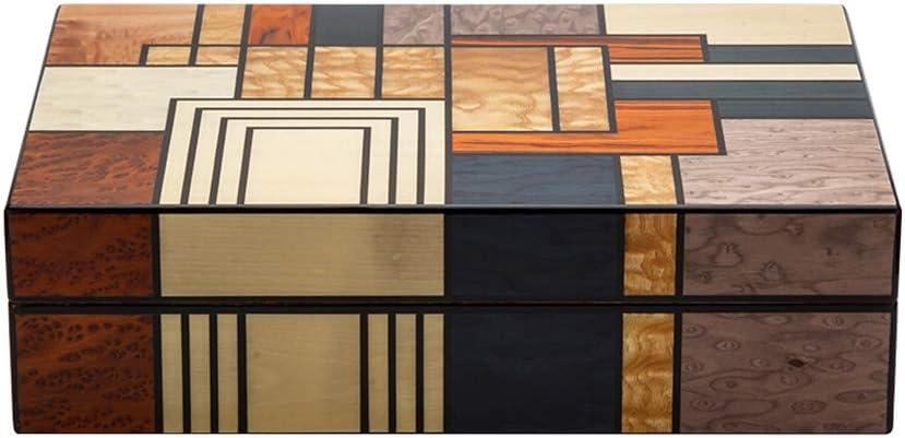 XF シガーボックス保湿内閣シーダーウッドライニング木目寄木大容量のアルコール化シガーボックス、350x240x100mm デコレーションボックス (Size : 350x240x100mm)