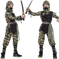 LOLANTA 7pcs niños Camuflaje Juego de rol Ninja Traje de ...