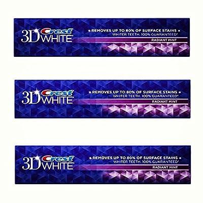 Crest 3D White Radiant Mint Flavor Whitening Toothpaste