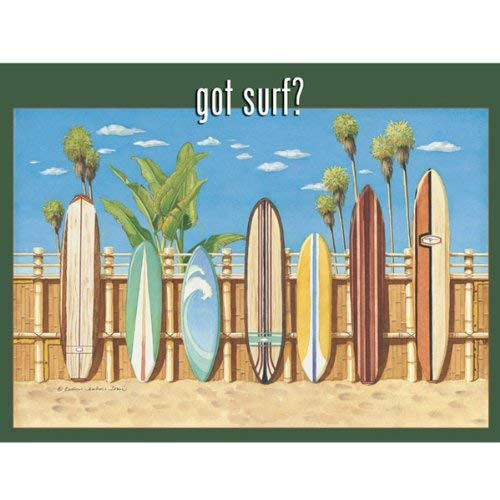 Eletina Toy Got Surf Metal Sign Surfing and Tropical Decor Wall Accent