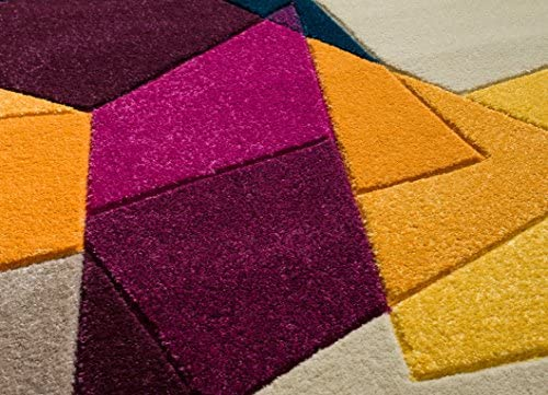 Well Woven Violet Bombay Modern Geo Shapes 2 x 3 Mat Accent Area Rug