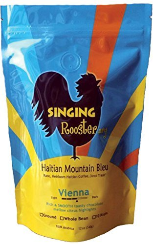 Haitian Coffee, Vienna Medium-Dark, GROUND by Singing Rooster Haitian Coffee