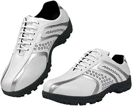 Lumiere Los Hombres de los Zapatos de Golf del Deporte a Prueba de Agua, Corta Zapatillas de Deporte Entrenar Golf,Blanco,39: Amazon.es: Deportes y aire libre