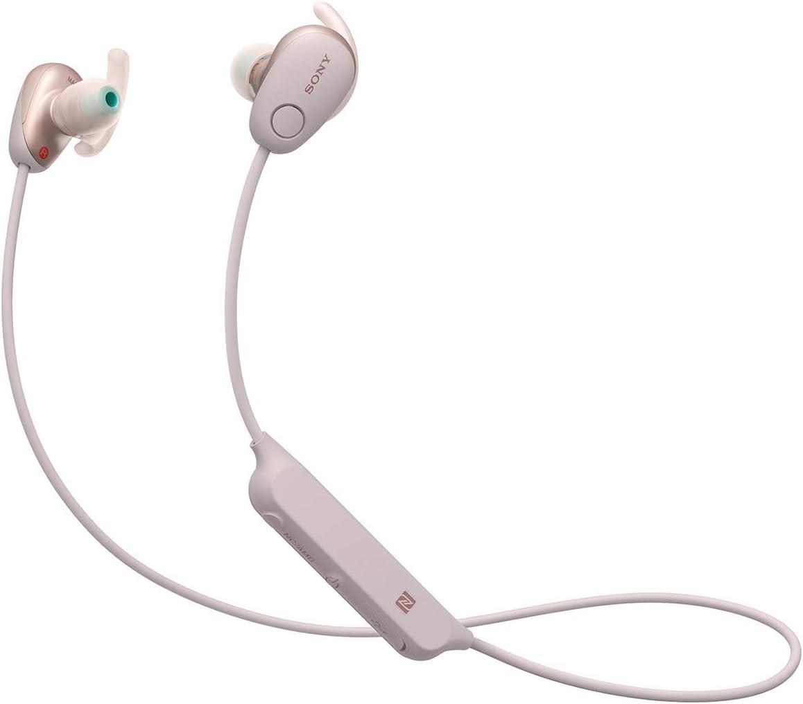 Amazon Com Sony Sp600n Wireless Noise Canceling Sports In Ear Headphones Pink Wi Sp600n P Electronics