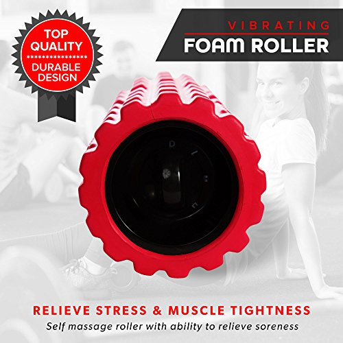 Vibrating Exercise Foam Roller (3 speed) Will Have Your Muscles Relaxed and Recovered Faster Than Any Regular Foam Roller! Relax and Heal Sore Muscles Using Our New Deep Tissue Vibration Technology.