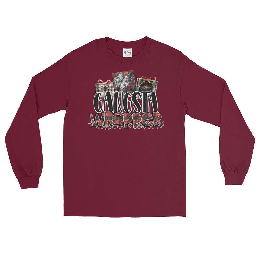 Available Gangsta Wrapper Funny Christmas Holiday Long Sleeve T-Shirt to 5X