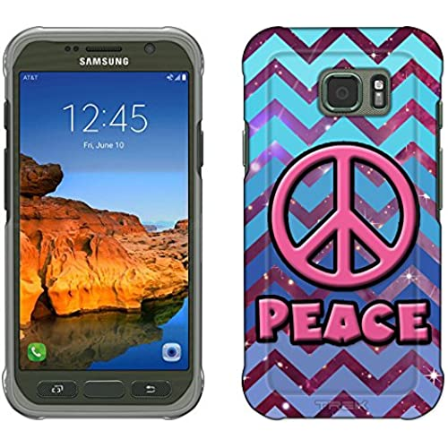 Samsung Galaxy S7 Active Case, Snap On Cover by Trek Peace on Chevron Teal Blue on Nebula Slim Case Sales