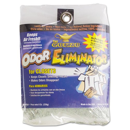 Gonzo 1012D Odor Eliminator, Volcanic Rocks, 8 oz Bag, 12/Carton