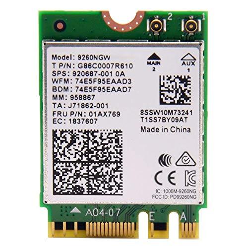 (Intel Wireless-Ac 9260, 2230, 2X2 Ac+Bt, Gigabit, No)