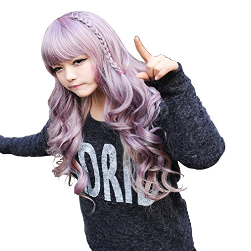 3 Halloween Costume Ideas Some (Amybria 28' Japanese Harajuku Zippe Mixx Purple Gradient 24' Curly Lolita Cosplay Party)