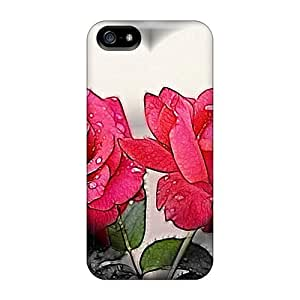 Cute High Quality Iphone 5/5s Heart Roses Case