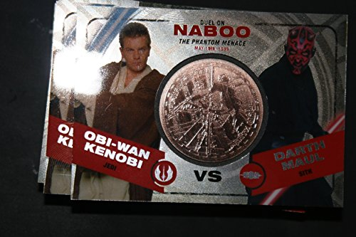 2015 Star Wars Chrome Perspectives Jedi vs. Sith Trading Cards Bronze Medallion Obi Wan Kenobi vs. Darth Maul NABOO Fight Poster Version