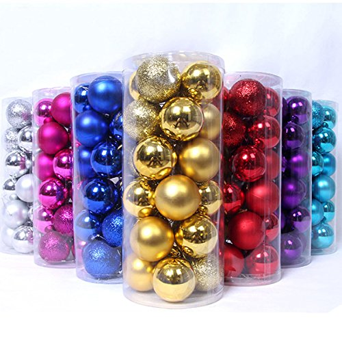 Christmas Tree Decor Ball Bauble Hanging Xmas Party Ornament decorations for Home Christmas decorations 24pcs/lot (1.2