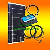 100Watt 12Volt Inselanlage, Solar Bausatz, Basis Set für Garten Camping von bau-tech Solarenergie GmbH