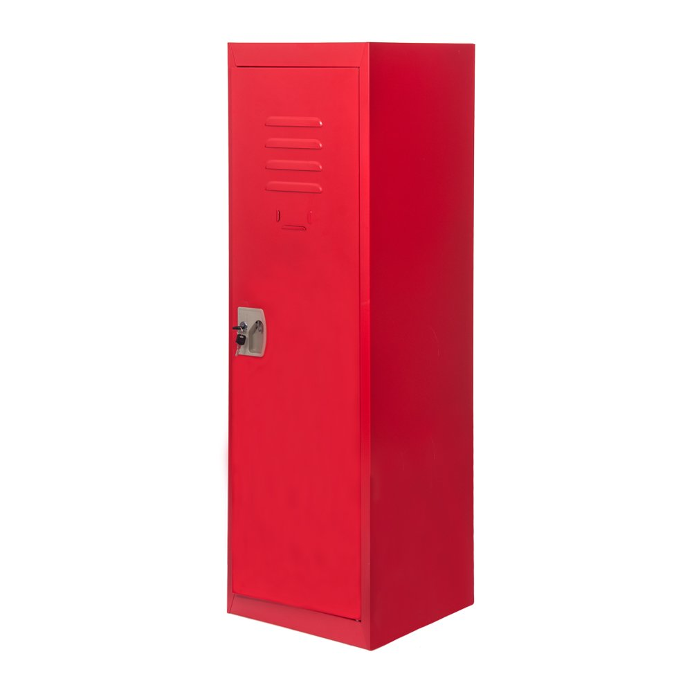 Merax SMART Kids Metal Storage Locker for Home and School, 48-Inch (Red) (WF019319)