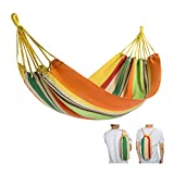 FUNDANGO Ultralight Portable Durable Outdoor Camping Hammock for Backpacking, Travel, Beach, Garden, Patio, Yard (Yellow)