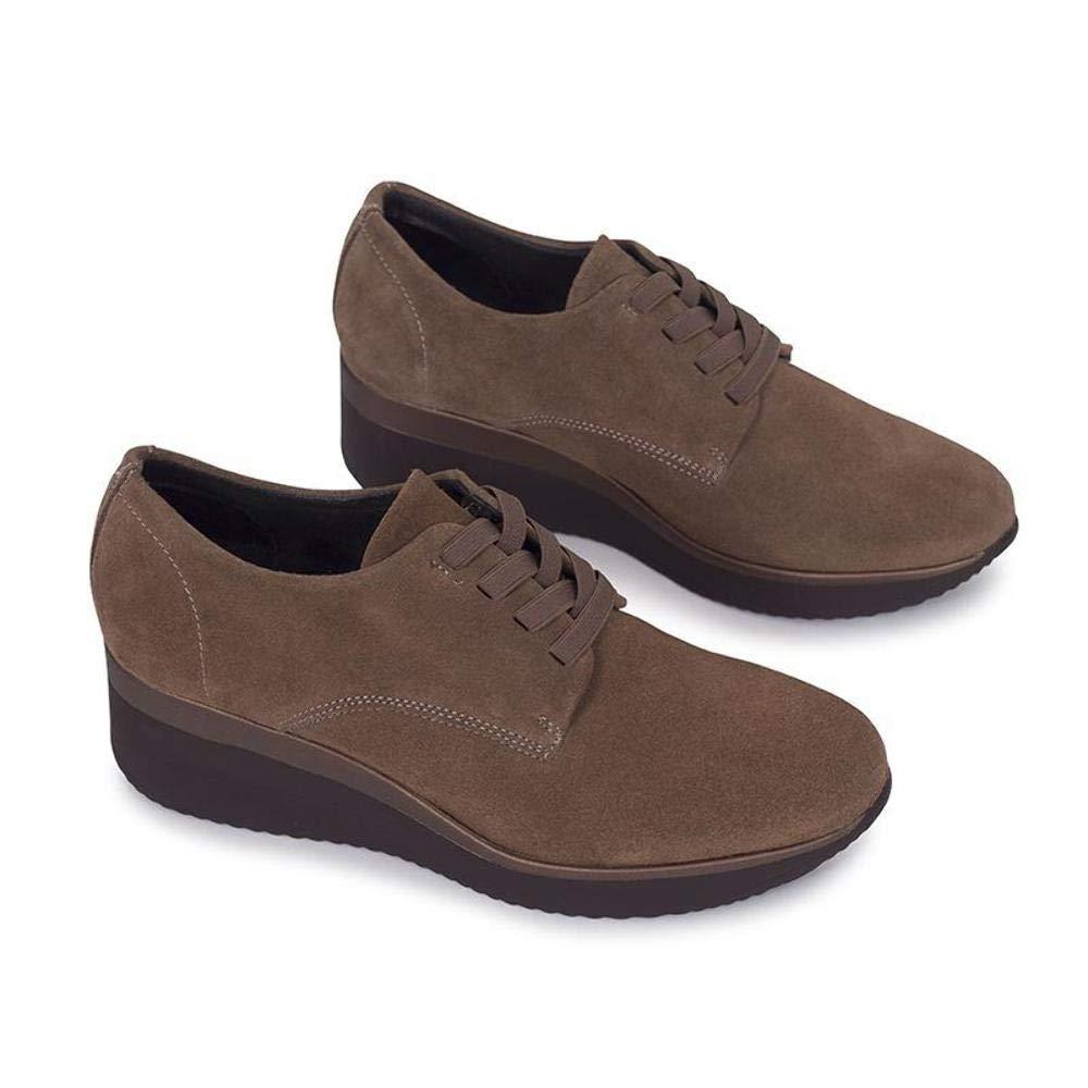 27973a1d Zapato Mimao Zapatos Teja Zapatos Piel Mujer Hechos EN ESPAÑA Zapato Cómodo  Mujer con Memory Foam Zapatos Cuña Mujer Zapato Blucher Mujer