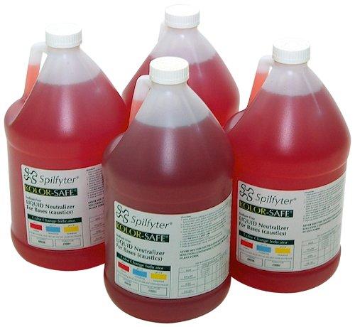 NPS 430004 Spilfyter Specialty Spill Control Liquid Base Neutralizer, 1 Gallon Bottle (Box of -