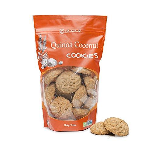 GluteNull Quinoa Coconut Cookies - Non-GMO, Vegan, Gluten - Coconut Free Cookies Sugar