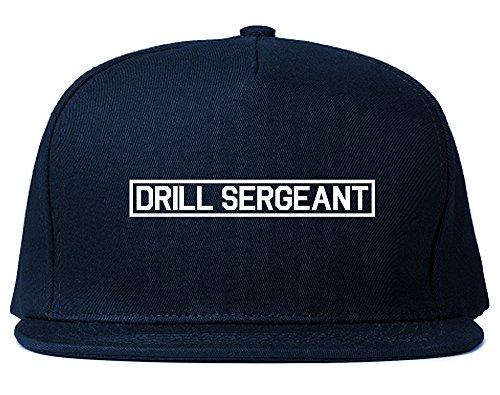Drill Sergeant Hat - Drill Sergeant Sgt Snapback Hat Cap Navy Blue