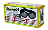 Eliminator 24 -Transitional Lens Red Baron Motorcycle Aviator Riding Goggles Day Night With Photocromatic Transition Lenses (Clear to Smoke) Boxed and Includes Micro Fiber Pouch for Storage and Safe Cleaning.