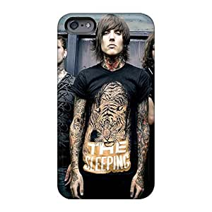 Scratch Protection Cell-phone Hard Cover For Apple Iphone 6plus (Tqb1128eAEW) Allow Personal Design Lifelike Bring Me The Horizon Band Bmth Image