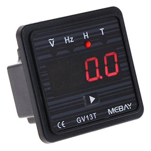(PoityA GV13T AC220V Diesel Generator Digital Voltmeter Frequency Hour Test Panel Meter)