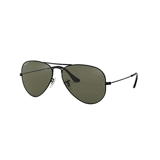 Ray-Ban Sunglasses - RB3025 Aviator Large Metal   Frame  Black Lens  Gray 20dff91094da
