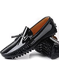 NEW Patent Leather Men Tassel Slip on Loafers Casual Shoes Driving Shoes Dress Shoes Black/ Brown/ Red/ Burgundy