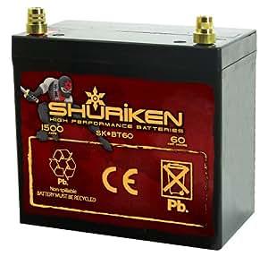 Amazon.com: Shuriken SK-BT60 60ah Battery: Automotive