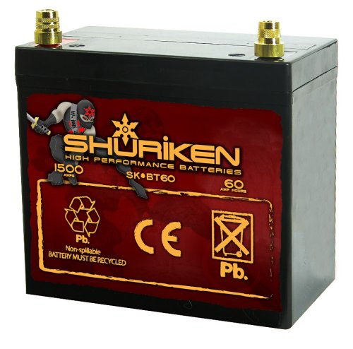 Shuriken SK-BT60 60ah Battery Metra Electronics