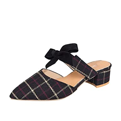 66b33cd04abea Amazon.com: Claystyle Womens Pointy Toe Loafers Ankle Strap Buckle ...