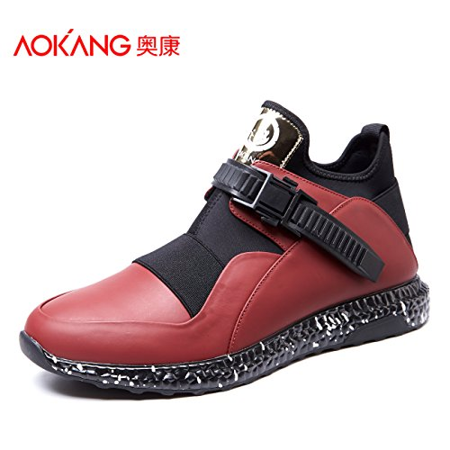 Aemember SCARPE DA UOMO AUTUNNO INVERNO alta ventilazione flusso aiuta gli studenti e versatile per lo sport ed il tempo libero di indossare le scarpe ,41, Rosso
