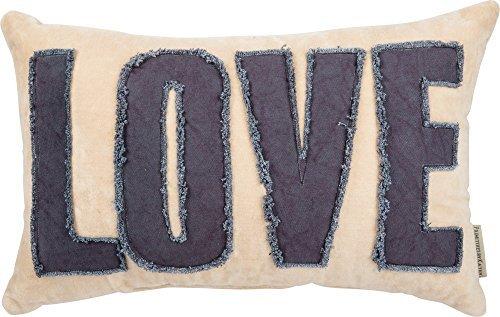 Primitives by Kathy Velvet Pillow Love Home Decor [並行輸入品] B07RCW1H5Q
