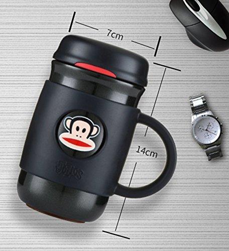 Oral Monkey Monkey Monkey Isolierung Cup Stecker Damen Büro Business Wasser Cup mit Vakuum Edelstahl Cup B07469GXFQ | Modernes Design  5afd4d