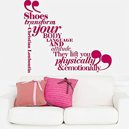 Review Wall Decal Vinyl Sticker Decals Art Decor Design Give a Girl Shoes Louboutin Woman Quote Sign Lettering Bedroom Modern Fashion Style(r892)